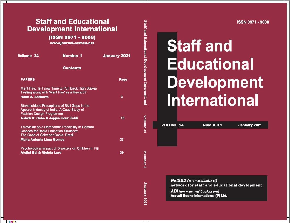 View Vol. 24 No. 1 (2021): Staff and Educational Development International